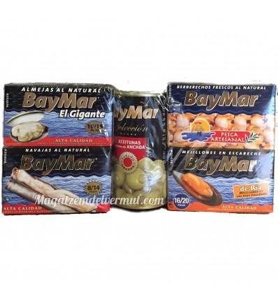 Super Pack 5 latas de conservas BayMar