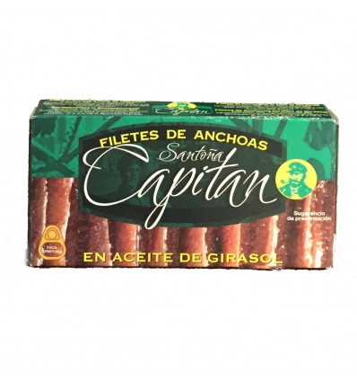 Filetes de Anchoas Capitán - Santoña aceite girasol