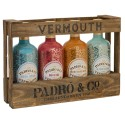 Padro & Co Vermouth – Wooden Case - 4 Bottles Colection Pack