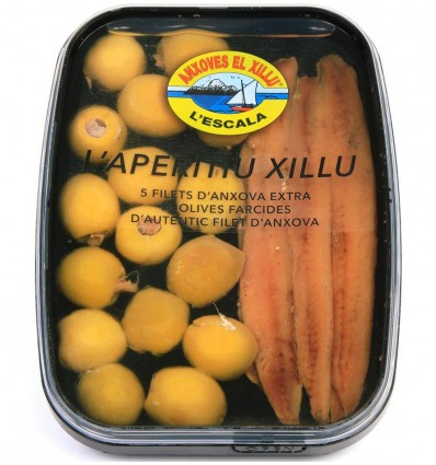 Bandeja Pack Aceitunas Xillu & anchoas cantábrico
